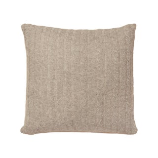 Wool Taupe 20-inch Throw Pillow