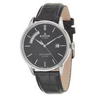 Edox Men's 83007-3-NIN Leather Watch