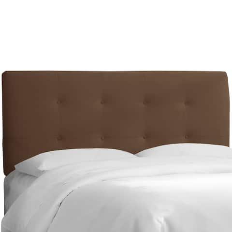 Skyline Furniture Chocolate Velvet Tufted Headboard By Bargain On