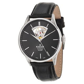 Edox Men's 85010-3N-NIN Leather Watch