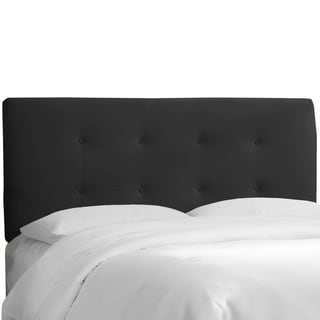 Skyline Furniture Black Velvet Tufted Headboard