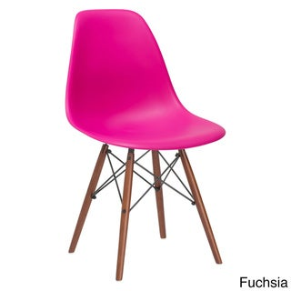 Edgemod Vortex Walnut Leg Dining Side Chairs (Set of 2)