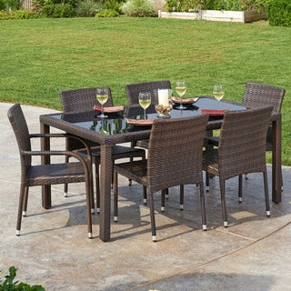 Arenal 7-Piece All-Weather Wicker Dining Set