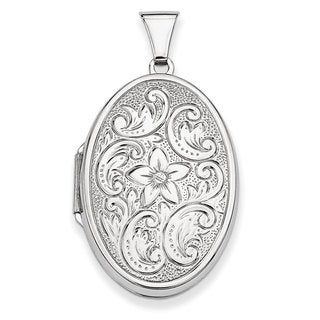 Versil Sterling Silver Oval Locket