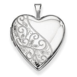 Versil Sterling Silver 20mm Swirl and Polished Heart Locket|https://ak1.ostkcdn.com/images/products/11461036/P18418480.jpg?impolicy=medium