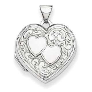 Versil Sterling Silver Inner Dual Heart Locket