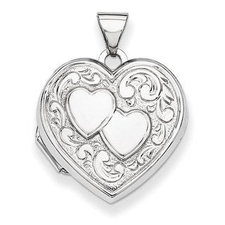Versil Sterling Silver Inner Dual Heart Locket