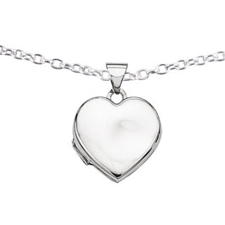 Versil Sterling Silver Plain 15mm Heart Locket