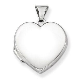 Versil Sterling Silver Plain 18mm Heart Locket