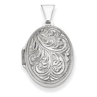 Versil Sterling Silver Oval Locket with Detailed Etching|https://ak1.ostkcdn.com/images/products/11461062/P18418504.jpg?impolicy=medium