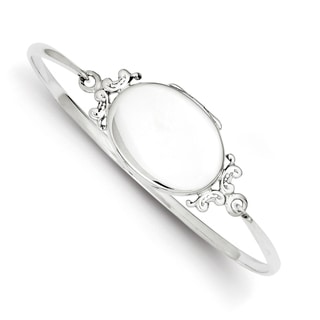 Versil Sterling Silver Locket Plate Bangle