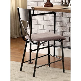 Furniture of America Herman Industrial Antique Black Chair