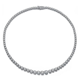 Collette Z Sterling Silver Cubic Zirconia Bead Necklace