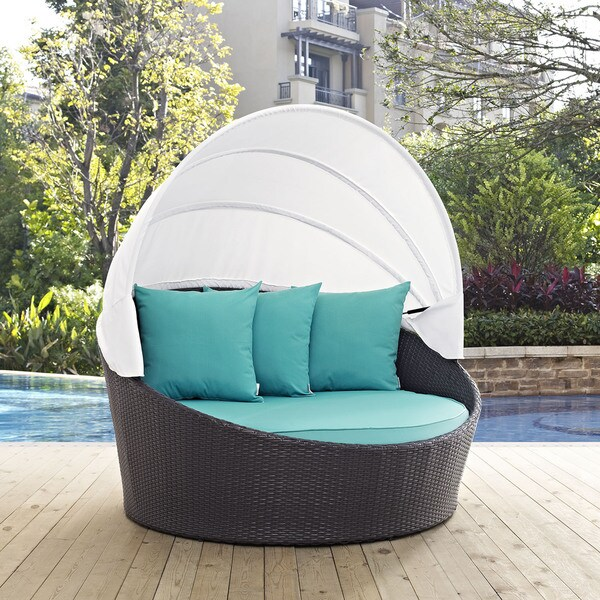 Convene 63 Inch Canopy Outdoor Patio Daybed