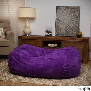 christopher knight home delilah fabric 4foot lounge beanbag chair - Childrens Bean Bag Chairs