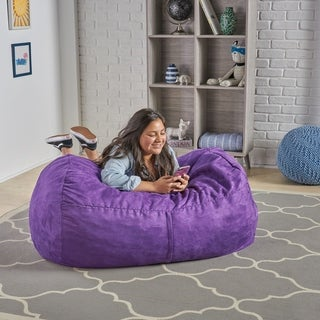 Delilah Fabric 4-foot Lounge Beanbag Chair by Christopher Knight Home