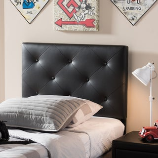 Baxton Studio Barnabars Modern and Contemporary Twin Size Faux Leather Upholstered Headboard