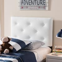 Laurel Creek Payton Faux Leather Upholstered Headboard