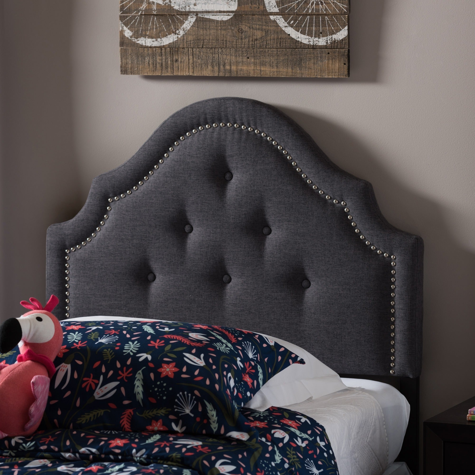 Shop Taylor Olive Founders Twin Size Upholstered Headboard
