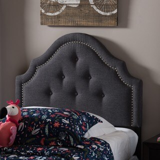Baxton Studio Chara Modern and Contemporary Twin Size Fabric Upholstered Headboard
