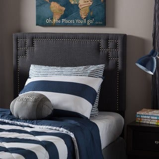 Baxton Studio Georgios Modern and Contemporary Twin Size Fabric Upholstered Headboard