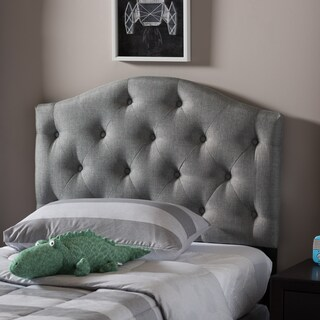 Laurel Creek Payton Twin Button-tufted Scalloped Upholstered Headboard (2 options available)