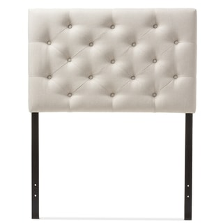 Baxton Studio Vangelis Modern and Contemporary Twin Size Fabric Upholstered Button-tufted Headboard