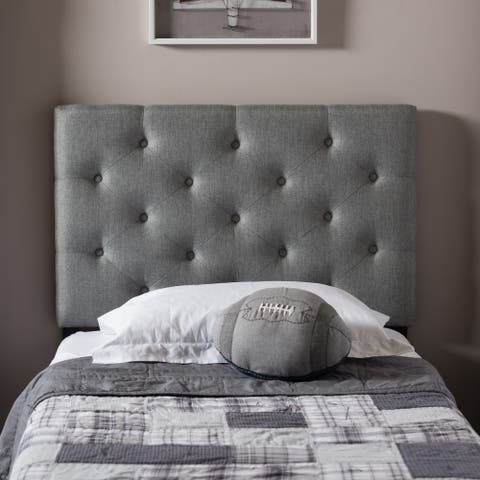 Taylor & Olive Wheeler Twin-size Fabric Upholstered Button-tufted Headboard