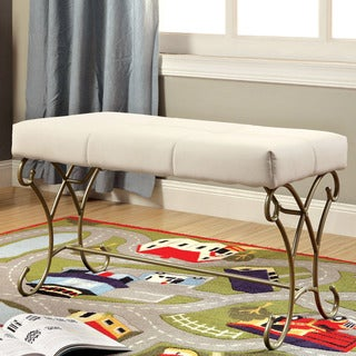 Furniture of America Princess Dream Two-Tone Upholstered Bench
