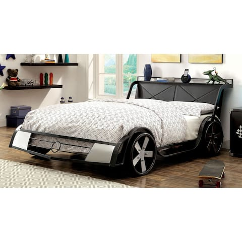 Furniture of America Loot Modern Grey Full Metal Youth Bed