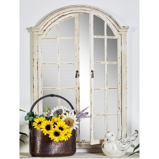 Wood Window-like 2-door Panel Mirror