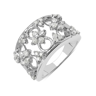 Olivia Leone Sterling Silver 3/4ct TDW White Diamond Ring (I-J, I2-I3)