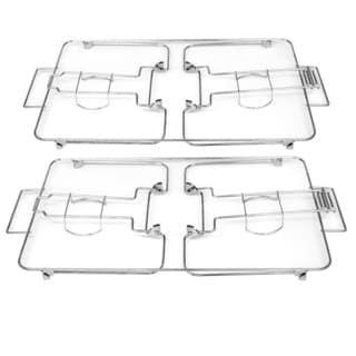 Chrome-Plated Collapsible Buffet Rack (Set of 2)