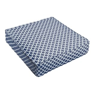 Navy Chainlink Indoor/ Outdoor Square Cushion - Corded