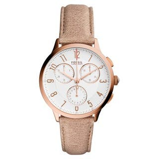 Fossil Women's CH3016 Chronograph Silver Dial Light Brown Leather Watch|https://ak1.ostkcdn.com/images/products/11467342/P18424012.jpg?impolicy=medium