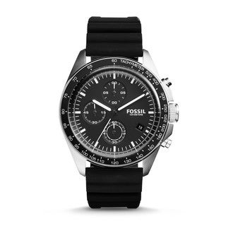 Fossil Men's CH3024 Sport 54 Chronograph Black Dial Black Silicone Watch