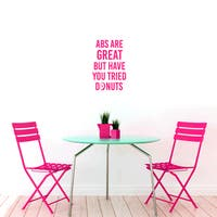 Abs Are Great But Donuts Funny Small Wall Decal