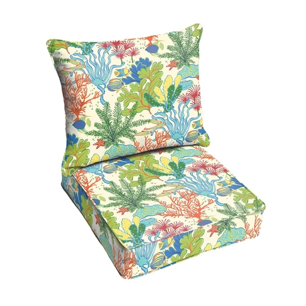 havenside home san elijo blue green indoor outdoor corded chair cushion and pillow set free. Black Bedroom Furniture Sets. Home Design Ideas