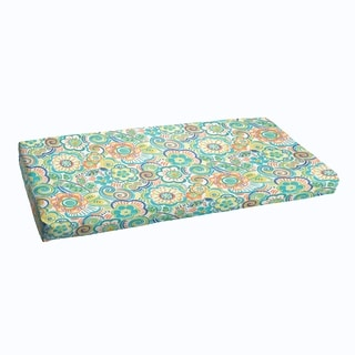 Blue Rio Floral Indoor/ Outdoor Bristol Bench Cushion