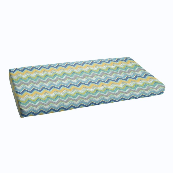 Blue Chevron Indoor Outdoor Bristol Bench Cushion Free Shipping Today 11467453
