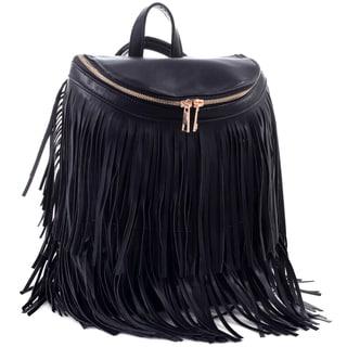 Dasein Fringe Top Flap Zipper Fashion Backpack