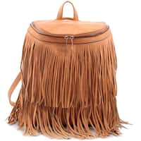 Dasein Fringe Top Flap Zipper Fashion Backpack