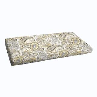 Grey Gold Paisley Indoor/ Outdoor Bristol Bench Cushion