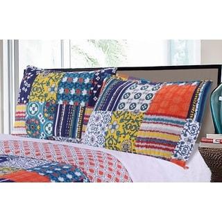 Greenland Home Fashions  Arianna Teal Pillow Sham Set