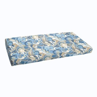 Blue Grey Abstract Indoor/ Outdoor Bristol Bench Cushion