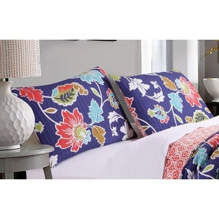 Greenland Home Fashions Phoebe Midnight Pillow Sham Set