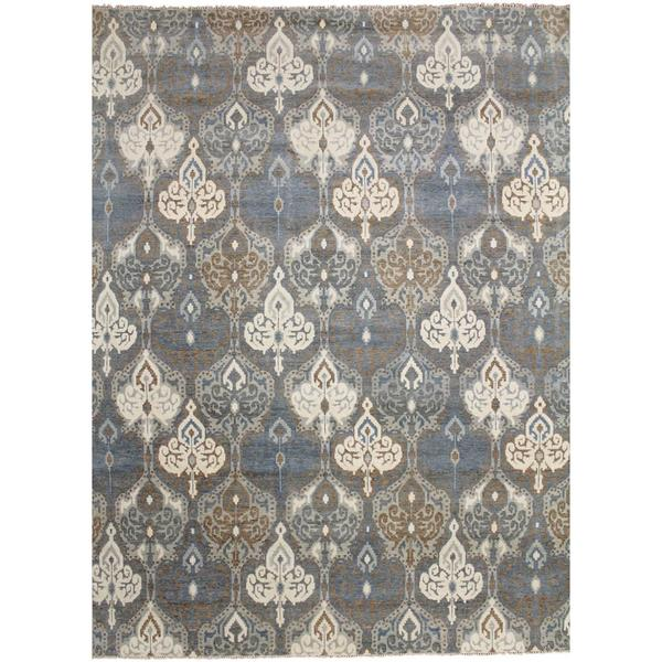 Super Fine Oushak Jiaan Grey Hand-knotted Rug - 9'0 x 12'3