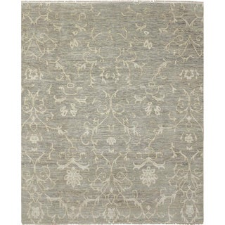Super Fine Oushak Yasmin Green Hand-knotted Rug (8'1 x 9'10)