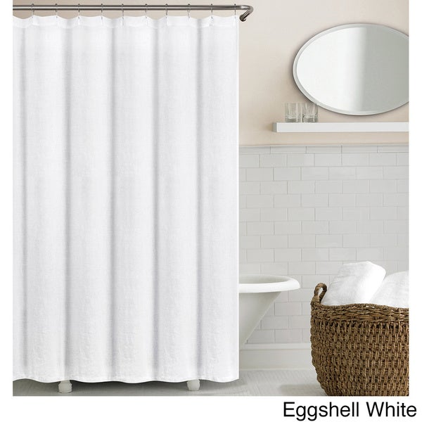 linen shower curtain white. Echelon Home Washed Belgian Linen Shower Curtain  Free Shipping Today Overstock com 18424119
