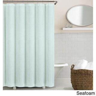 Echelon Home Washed Belgian Linen Shower Curtain (Option: Seafoam)